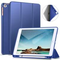 ZtotopCase iPad 9.7 Inch 2018/2017 Case with Pencil Holder - Lightweight Soft TPU Back Cover and Trifold Stand with Auto Sleep/Wake, Protective for iPad 6th/5th Generation, Blue
