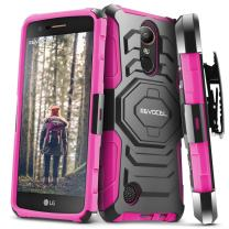 Evocel New Generation Series Phone Case Compatible with K20 Plus, K7 2017, V5 with Belt Clip Holster and Kickstand, Pink