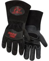"Steiner 0235-L Pro-Series MegaMIG Cotton Lined Heavyweight Grain Goatskin and Split Cowhide Back MIG Welding Gloves with 4.5"" Cuff, Large"