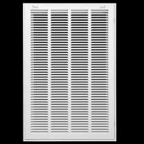 """16"""" X 34"""" Steel Return Air Filter Grille for 1"""" Filter - Easy Plastic Tabs for Removable Face/Door - HVAC Duct Cover - Flat Stamped Face -White [Outer Dimensions: 17.75w X 35.75h]"""