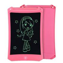8.5 Inch Reusable LCD Writing Tablet Ewriter, Doodle Drawing Pad Game Playing Board Toy Gift for Toddlers & Kids, Teacher Planner Bulletin NotePad Board with Stylus - Mono Black & Pink