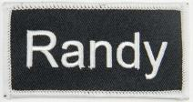 Randy Name Tag Patch Uniform ID Work Shirt Badge Embroidered Iron On Applique