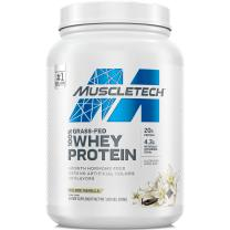 Grass Fed Whey Protein | MuscleTech Grass Fed Whey Protein Powder | Protein Powder for Muscle Gain | Growth Hormone Free, Non-GMO, Gluten Free | 20g Protein + 4.3g BCAA | Deluxe Vanilla, 1.8 lbs