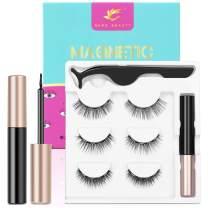 2021 Upgraded Magnetic Eyelashes and Eyeliner Kit, Magnetic Eyeliner with Natural Look Reusable Premium Magnetic Eyelashes Athena 3 pairs NERE BEAUTY