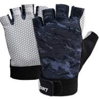Drasry UV Fishing Gloves Fingerless Sun Protection Men Women UPF50+SPF for Fishing Kayaking Paddling Hiking Sailing Rowing Driving Canoeing Glove