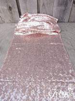 """TRLYC 12""""x120""""Rose Gold Sequin Table Runners, Sequin Table Cloth, Sequin Tablecloths, Sequin Linens, 10 Pieces"""