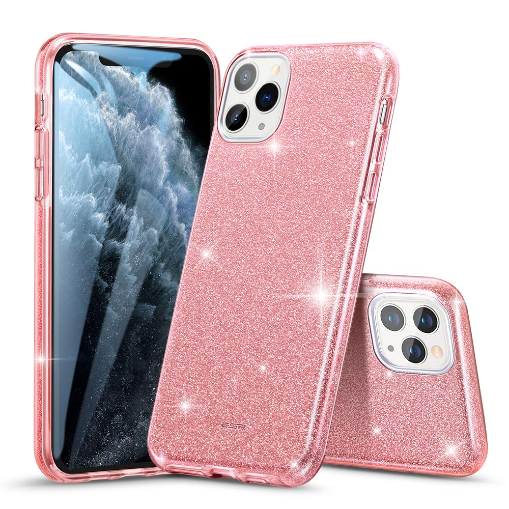 """ESR Glitter Case Compatible for iPhone 11 Pro Case, Glitter Sparkle Bling Case [Three Layer] for Women [Supports Wireless Charging] for iPhone 11 Pro 5.8"""" (2019), Rose Gold"""