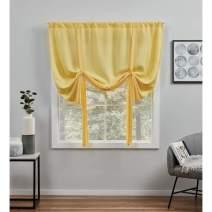 Exclusive Home Curtains Loha Light Filtering Rod Pocket Tie Up Shade, 54X63, Sunbath