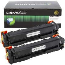 LINKYO Compatible Toner Cartridge Replacement for HP 202X CF500X 202A (Black, High Yield, 2-Pack)