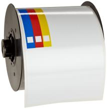 """Brady B30-243-595-CB 100' Length x 4"""" Width, B-595 Indoor/Outdoor Vinyl, White BBP31 Pre-Printed Right-To-Know Chemical Labels Tape, 170 per Roll"""
