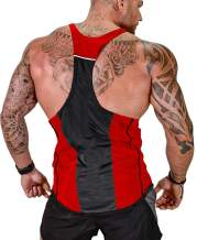 MIZOK Mens Y-Back Tank Tops Gym Bodybuilding Workout Sleeveless Shirts