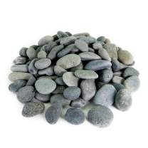 Mexican Beach Pebbles   40 Pounds of Smooth Unpolished Stones   Hand-Picked, Premium Pebbles for Garden and Landscape Design   Black, 3 Inch - 5 Inch