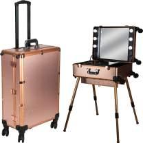 Ver Beauty Makeup Studio Workstation 6 Dimmable Led Lights, Rose Gold