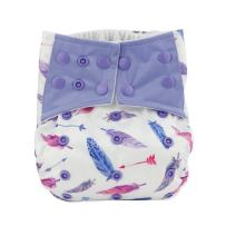 Hi Sprout One Size Adjustable Washable Reusable Pocket Cloth Diapers for Baby Girls and Boys,Dancing Feather