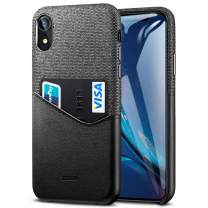 ESR Metro Wallet Case for iPhone XR, Soft Fabric + Premium PU Card Leather Case with ID & Card Holder Slot for The iPhone XR(Charcoal/Black)