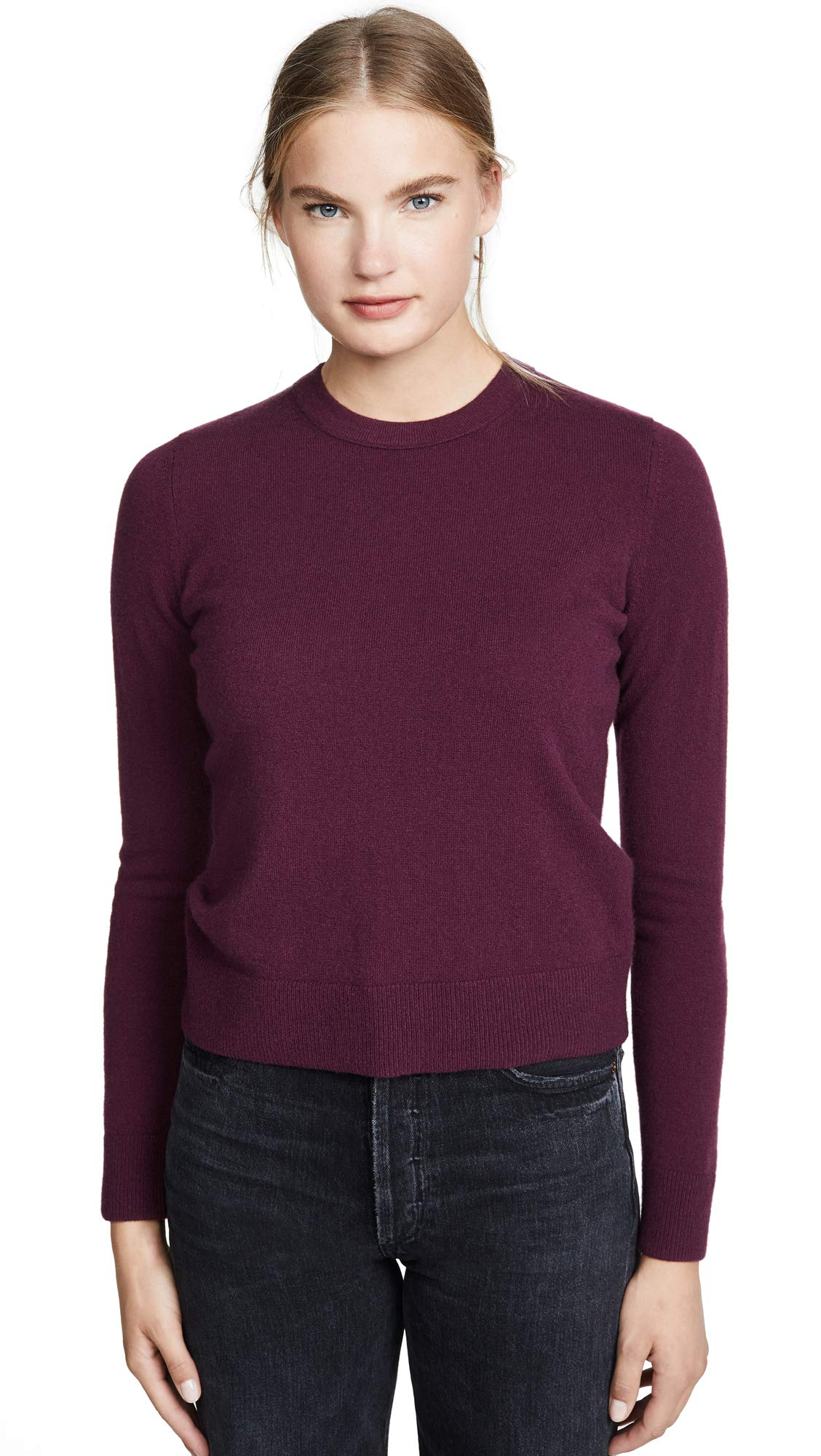 Vince Women's Overlay Cashmere Crew Sweater