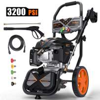 TACKLIFE 3200PSI Gas Pressure Washer, 2.4GPM 6.5HP Power Washer with 5 Quick-Connect nozzles,4-Stroke OHV Engine,Includes 25ft Hose& Detergent Tank-GSH01B