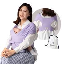 Konny Baby Carrier | Ultra-Lightweight, Hassle-Free Baby Wrap Sling | Newborns, Infants to 44 lbs Toddlers | Soft and Breathable Fabric | Sensible Sleep Solution (Lavender, XL)
