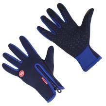 Cycling Gloves,Winter Running Gloves Winter Warm Gloves for Men & Women, Touchscreen Gloves Cold Weather Cycling Gloves Windproof Winter Sports Gloves
