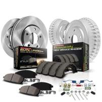 Power Stop KOE15048DK Daily Driver Pad, Rotor, Drum and Shoe Kit (Front and Rear)