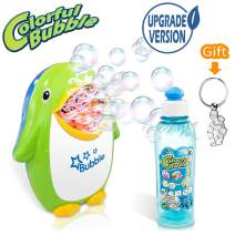 scurry Bubble Machine with Bubble Solution for Kids Toddlers, Automatic Bubble Blower Maker Toy Over 500 Bubbles per Minute - for Party, Wedding, Outdoor Indoor Games, Battery Operated (Not Included)