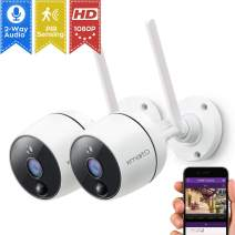 xmartO 1080P Full HD Wireless Security Camera (2 PCS 1080P PIR Wireless Cameras)