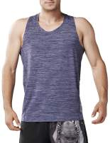 HUGE SPORTS Men's Gym Fitness Y-Back Quick Dry Tank Top-Bodybuilding Workout Muscle Sleeveless Shirts