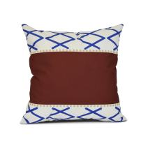E by design Knot Fancy Geometric Print Pillow, 16 x 16, Red