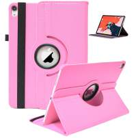 """2018 iPad Pro 11"""" Case, 360 Rotating Smart Cover PU Leather with Auto Sleep/Wake [Supports Apple Pencil Charging] Stand Case for New iPad Pro 11 inch 2018 Release (Pink)"""