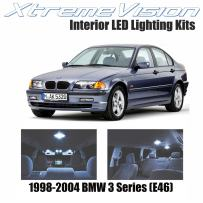 XtremeVision LED for BMW 3 Series (E46) 1998-2004 (9 Pieces) Cool White Premium Interior LED Kit Package + Installation Tool