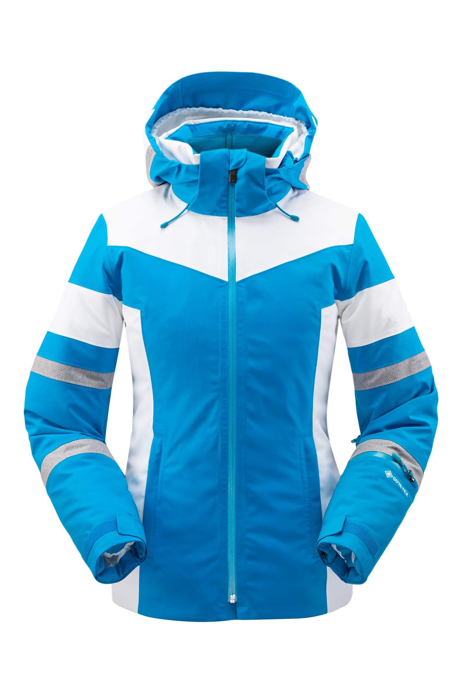 Spyder Women's Captivate Gore-Tex Ski Jacket – Ladies Full-Zip Hooded Winter Coat