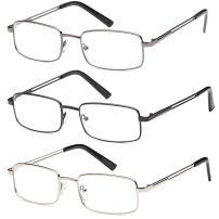 Reading Glasses 3X Stainless Flex 3.00 Readers