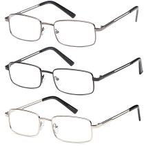 Reading Glasses 3X Stainless Flex 3.00 Readers