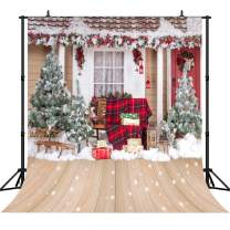 CapiSco 10X10FT Christmas Photography Backdrops for Photographers Outdoor Christmas Trees Backdrop Beautiful White Snow Photo Background SCO94B