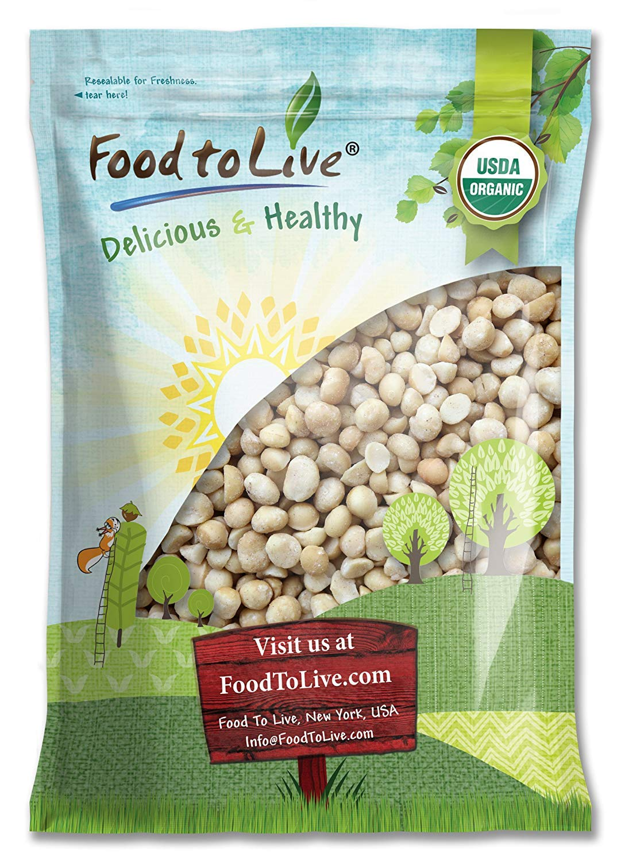 Organic Macadamia Nuts, 8 Pounds - Non-GMO, Kosher, Raw, Vegan