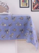 Table Cloth, 100% Cotton, Rectangular Table Cloth of Size 60X 102 Inch, Eco - Friendly & Safe, Blue Autmun Leaves Design for Kitchen