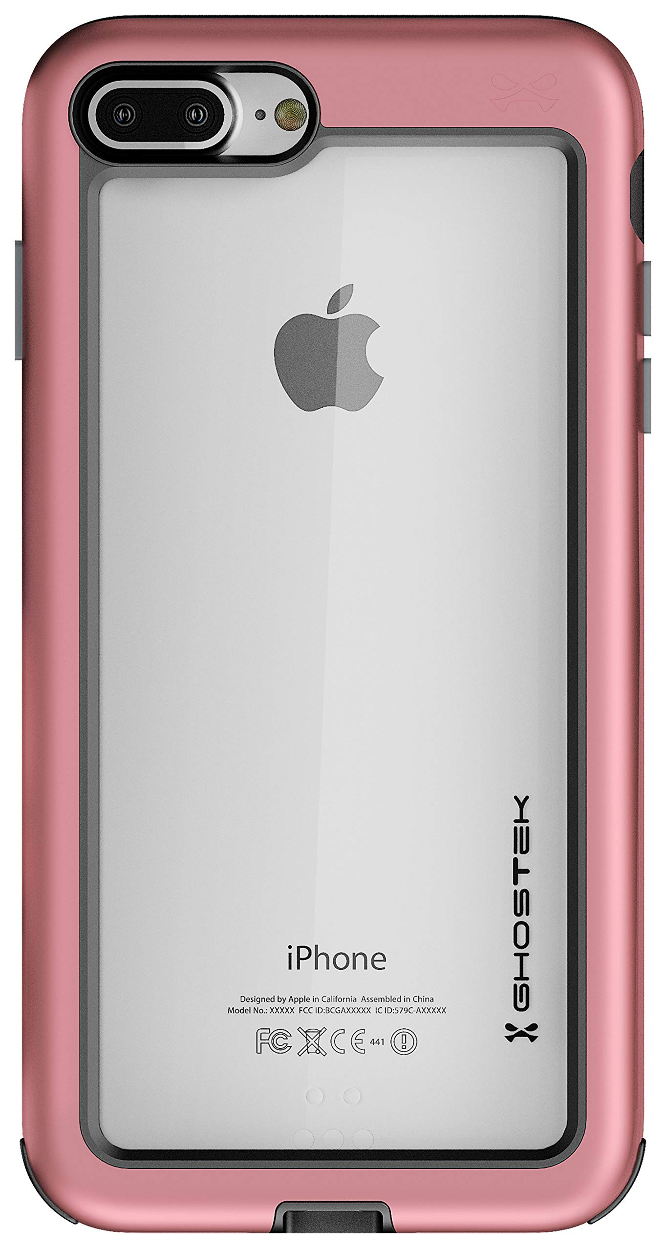 Ghostek Atomic Slim Series for iPhone 7 Plus, iPhone 8 Plus - (Pink)