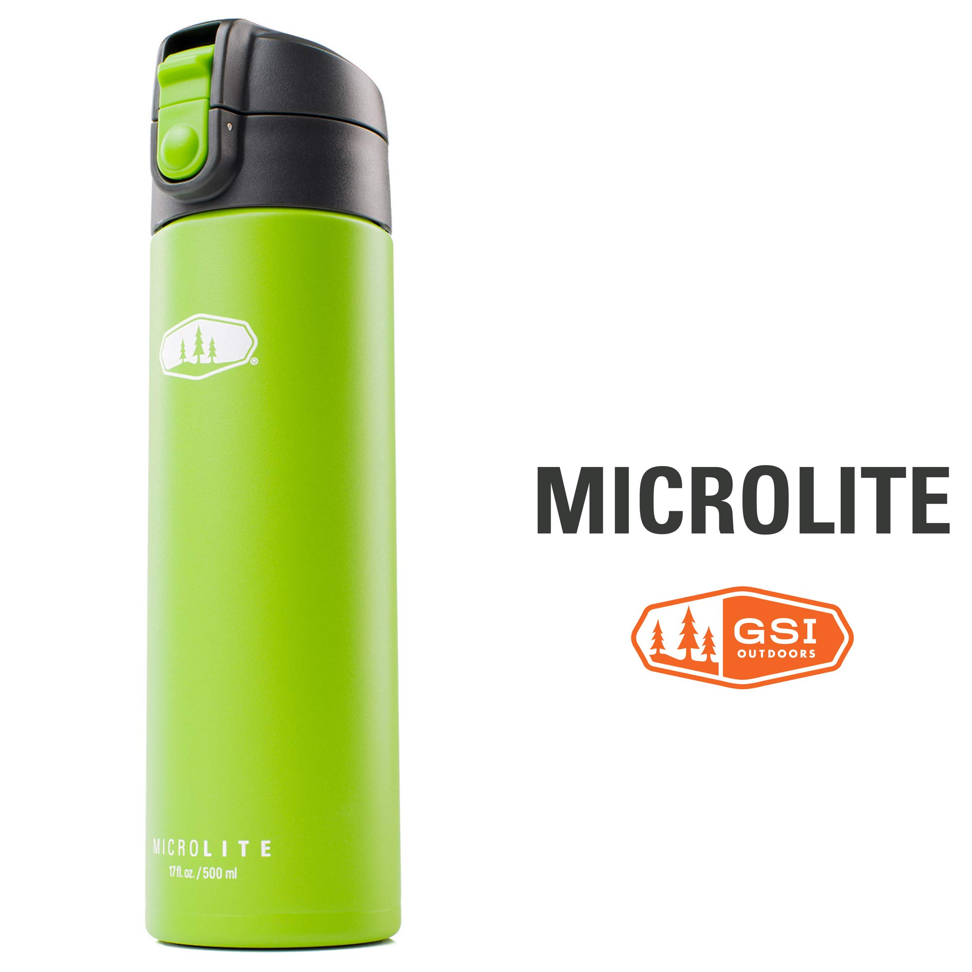 GSI Outdoors - MicroLite 500 Flip 17 fl.oz. Vacuum Insulated Stainless Steel Water Bottle