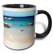 3dRose 151417_4 Hakuna Matata Mug, 11 oz, Black