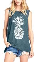 Pineapple Tank Top Women Funny Graphic Tunic Vest Sleeveless T-Shirt Workout Tops Beach Vacation Clothes