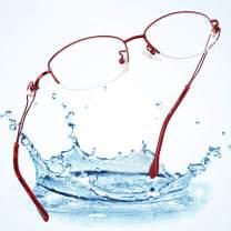 LifeArt Alloy Semi-Rimless Reading Glasses, Blue Light Filter Computer Glasses, Transparent Lens,Reduce Headaches&Eyestrain,Stylish for Women/Men