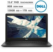 "KKE Upgrades Inspiron 15 Laptop, 15.6"" Full HD Touchscreen, Intel Core i3-8145U up to 3.90GHz, 8GB RAM, 128GB PCIe NVMe M.2 SSD + 1TB HDD, Backlit Keyboard, HDMI, Wireless-AC, Bluetooth, Windows 10"