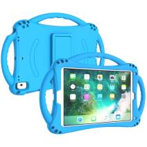LTROP Case for New iPad 9.7-inch 2018/2017 - Soft Silicone Shockproof Lightweight Handle Stand Shoulder Strap Kids Case for iPad 9.7 2018/2017 (iPad 6th & 5th Generation) Previous Model - Blue