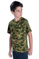 Code Five Youth 100% Cotton Camouflage Crew Neck Short Sleeve Tee