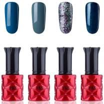 YaoShun Gel Polish - Gel Polish Set UV Gel Deep Blue Series UV Gel Soak off Nail Gel Nail Art Starter Kit French Manicure Gel 8ml