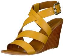 Franco Sarto Womens G3663L1 Leather Open Toe Casual Slingback Sandals