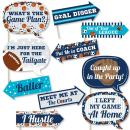 Funny Go, Fight, Win - Sports - Baby Shower or Birthday Party Photo Booth Props Kit - 10 Piece