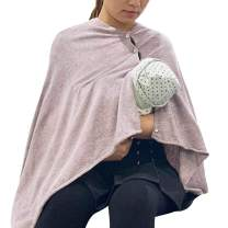 Nursing Cover Poncho for Breastfeeding Adjustable Knitted Nursing Scarf with Button Closure for Privacy Feeding Cover Breathable Nursing Shawl,Oatmeal Mink