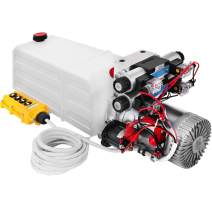 Bestauto 24V DC Hydraulic Pump Double Acting Hydraulic Power Unit Double Solenoid Hydraulic Power Pack Unit with 8L Tank Max Pressure 200 Bar(1600W, Plastic Reservoir Tank)