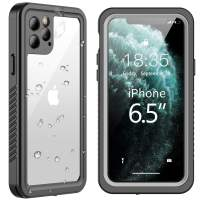 SPIDERCASE iPhone 11 Pro Max Waterproof Case, Built-in Screen Protector Full Body Heavy Protection Shockproof Anti-Scratched Rugged Underwater Cases for iPhone 11 Pro Max 6.5 inch 2019